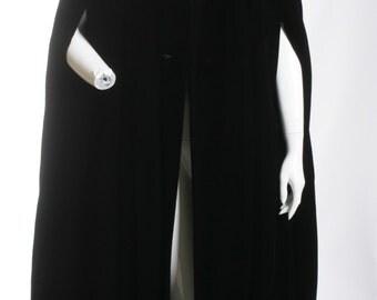 Luscious Velvet Cape Vintage Black Full Length