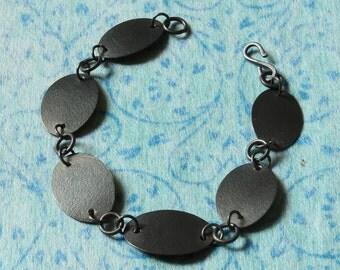 Silver Bracelet - Handmade Oxidised Silver Bracelet - Black Jewellery - Textured Silver Bracelet - Industrial Jewellery - Modernist Style