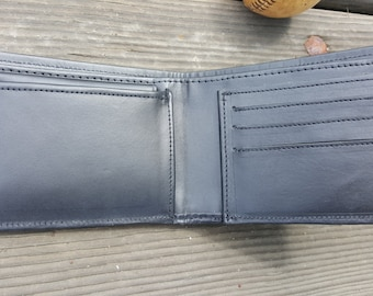 Men's leather wallet with ID insert