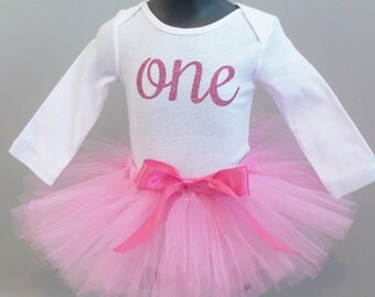 Pink First Birthday Outfit