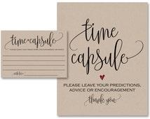 Time Capsule, Guest Book Alternative, Time Capsule Cards, Guest Book Sign, Time Capsule Sign, Wedding Guest Book, Baby Time Capsule, WSET5