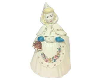Cinderella Cookie Jar in Ceramic by Metlox