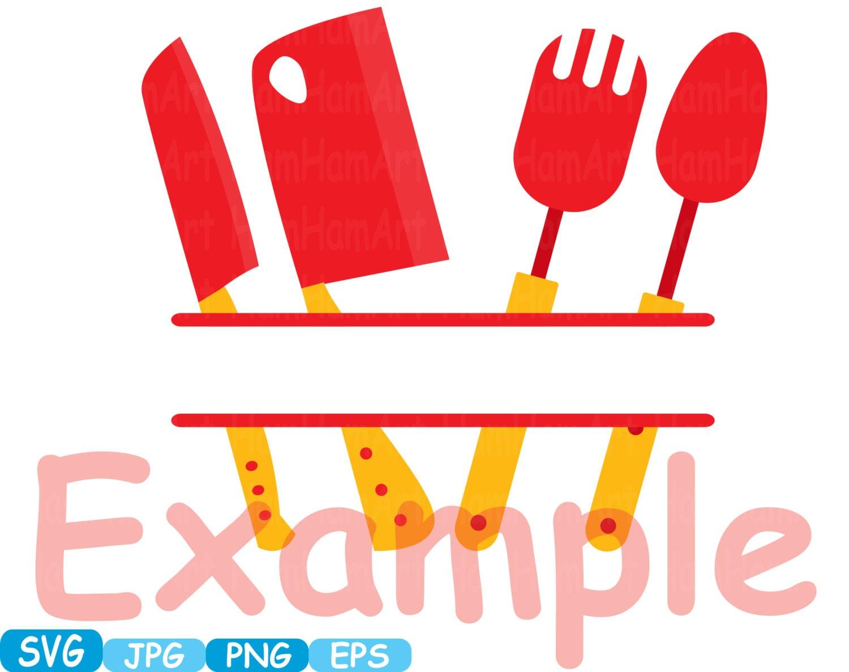 Kitchen svg kitchen utensils clipart restaurant clip art chef - Kitchen Svg File Cutting Files Cricut Cameo Kitchen Utensils Silhouette Svg Cooking Food Stickers Clipart Tools Clip Art 289s