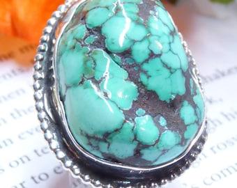 Natural Tibetan Turquoise Ring