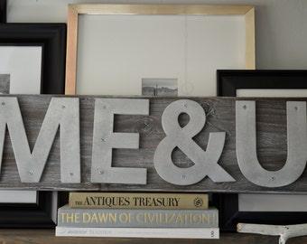 1-3  Letter Custom Handmade Industrial/Rustic Signs