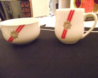 TWA Bowl and Cup 1960's