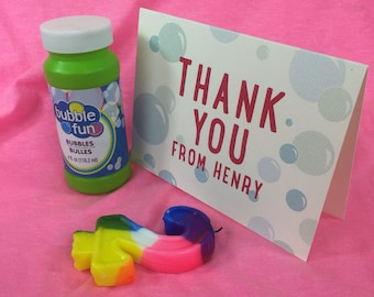 Bubble Thank You Note Cards - Get Started Deposit or DIY Payment