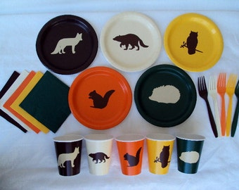 Woodland Creatures Tableware Set for 5 People