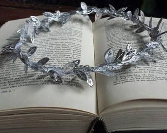 Silver Leaf Fairy Crown