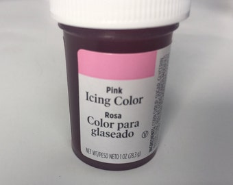 Pink icing color dye