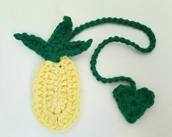 Pineapple Crochet Bookmark