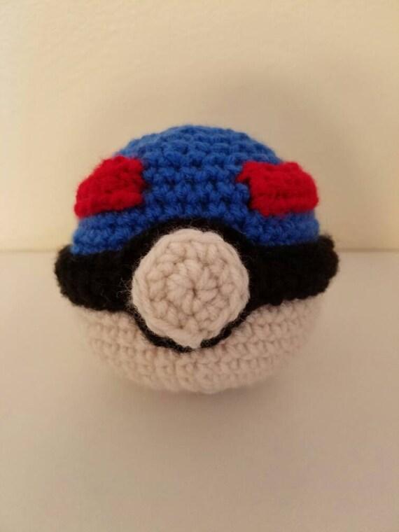 Close Amigurumi Ball : Items similar to Pokeball Superball Pokemon Go Stuffed ...