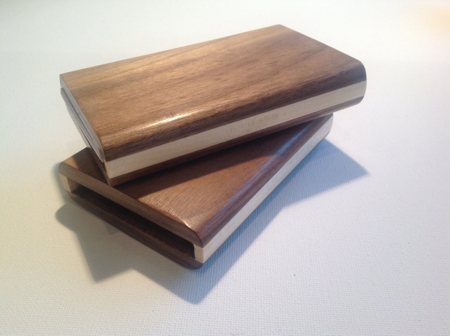 Wood business card holder business card case handmade from