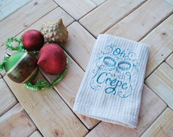 Kitchen Hand towel Crepes Brown
