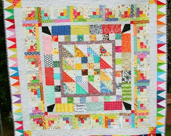 Scrappy Medallion Quilt