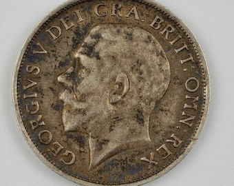 1916 Great Britain Shilling Sterling Silver Coin