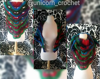 READY TO SHIP!!!now on sale!! Unicorn crochet shawl/neck cowl