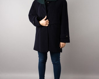 Vintage short coat dark blue - Karra