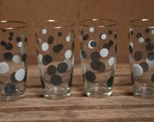 Vintage French Spotted Drinking Glasses