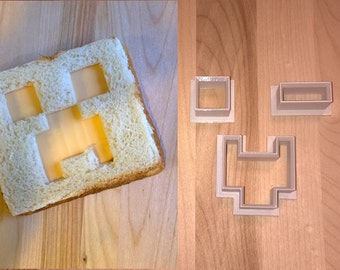 MineCraft Inspired Face Shapes Sandwich Cutters