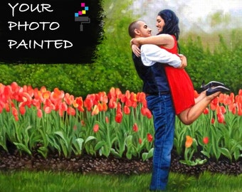Wedding Painting Canvas, Acrylic Wedding Painting, Custom Wedding Painting, Custom Wedding Portrait Gift, Wedding Portrait, Wedding Painting