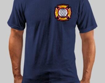 Back 400 Feet Firefighter Tee