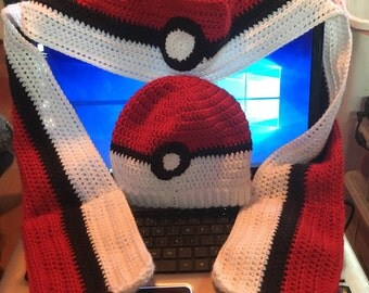 Pokeball-themed scarf (SCARF ONLY)