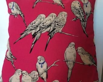 Budgies Pink Cushion
