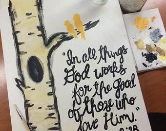 Romans 8:28 Canvas!