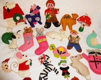 Christmas Ornaments Handmade 23 Felt Ornaments