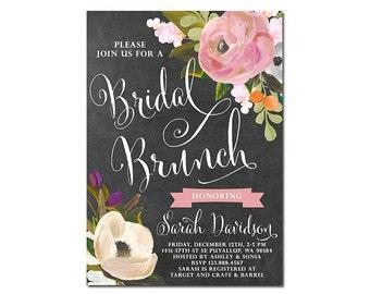 Bridal Shower Invitation, Bridal Brunch Invitation, Bridal Shower Brunch, Chalkboard Bridal Shower Invite
