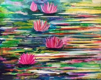 Grunge Lotus Pond