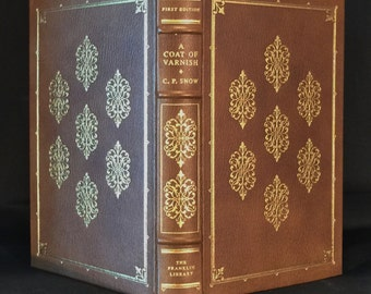 Full Leather, Limited First Edition, Franklin Library, 1979, by C. P. Snow, A Coat of Varnish