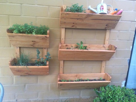 lovely hanging wood planter box stand