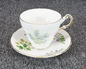 Vintage Regency English Bone China Teacup And Saucer