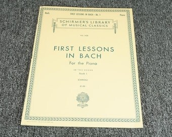 Schrimer's Library Of Musical Classics First Lessons In Bach Piano Sheet Music