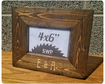 Personalized Frame, Wedding Frame, Wedding Gifts, Custom Wood Frame, Rustic Wedding Gift, Desktop Frames, Custom Wedding Frames, Rustic