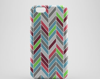 Multi-coloured Chevron Phone case,  iPhone X Case, iPhone 8 case,  iPhone 6s,  iPhone 7 Plus, IPhone SE, Galaxy S8 case, Phone cover, SS144b