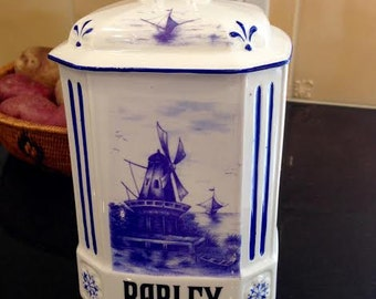 Vintage Altrohlau Porcelain Barley Canister - Free Shipping
