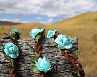 Hippie Flower Headband Boho Wedding Headband Flower Crown Flower Hair Piece