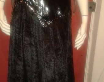 vintage velvet and pvc studded skirt size 14