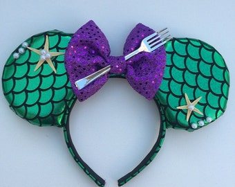 The Little Mermaid ears with decorations
