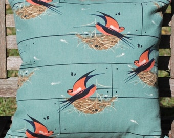 Organic Barn Swallow Pillow Cover - Charley Harper Design