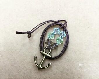 Black Sails Anchor charm necklace