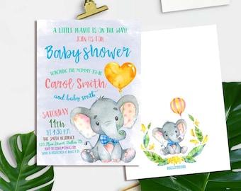 baby shower invitation elephant baby shower invitation boy baby boy invitation printable baby