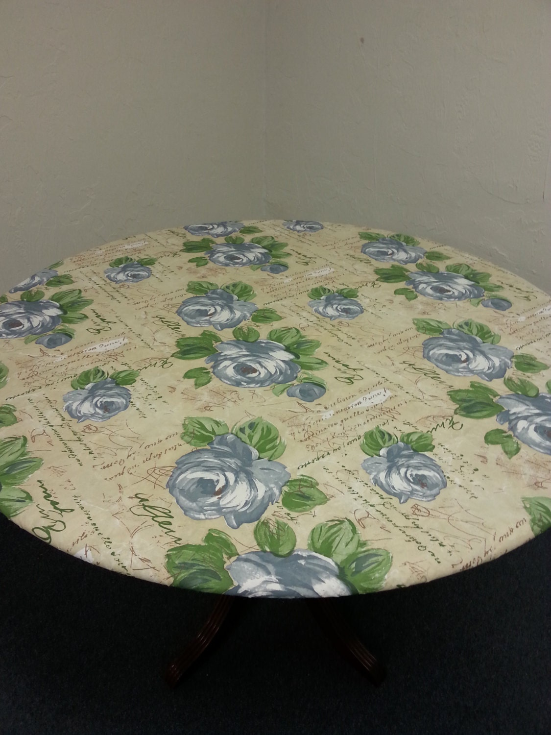 Fitted Table Cover Vinyl Fitted Tablecloth By