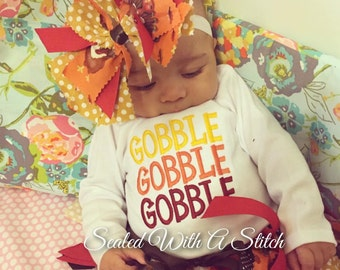 Thanksgiving Onesie, Gobble Gobble Gobble