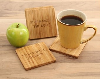 Stop & Smell the Rosé Coaster Set
