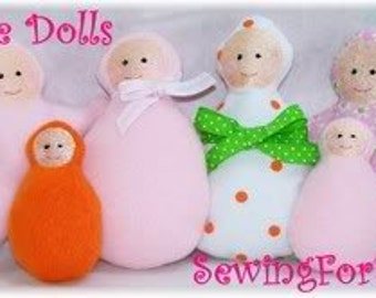 Softie Dolls and Angels Embroidery Machine Design for the 4x4 and 5x7 hoop