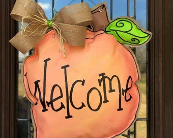 Peach Door Hanger